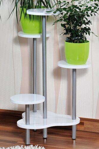 Fleurs escalier etagere plantes escalier pflanzenbank support de fleurs bois MDF Blanc