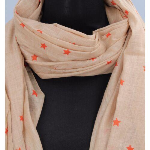 NALì accessori donna sciarpa stola foulard cotone beige fucsia celeste arancione