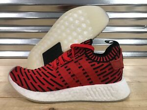 bf334a3da Adidas NMD R2 Primeknit Running Shoes Core Red Black Cloud White SZ ...