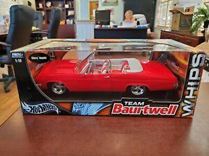 Rare Chevy Impala WHIPS Lowrider Team Baurtwell 1:18 Hot Wheels DieCast NOS