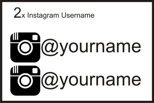 2 x Instagram pseudo Graphic Vinyl Decal Sticker Euro JDB DUB VW Drôle Jap
