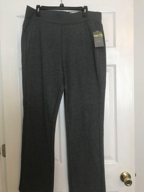 Tek Gear DryTek Xlarge XL Charcoal Gray Ultrasoft Straight Pants Mid Rise NWT