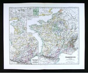 Map Of France Gascony.Details About 1880 Spruner Map France 1180 1461 Normandy Paris Aquitania Gascony Europe