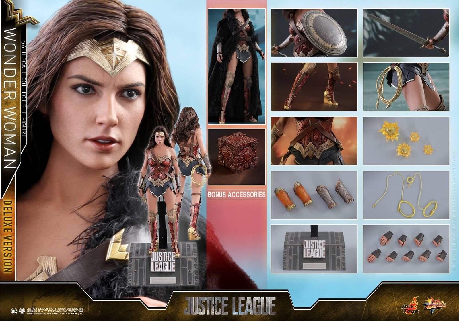 Hot Toys 1/6 MMS451 DC Justice League Wonder Woman Diana Deluxe Version
