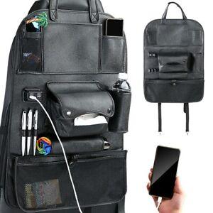 Organizer Schienale Sedile Auto Organizzatore con Porte USB e Tasche Portatutto