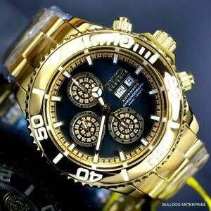 Invicta Reserve Pro Diver Diamond Swiss SW500 Automatic Gold Plated Watch New