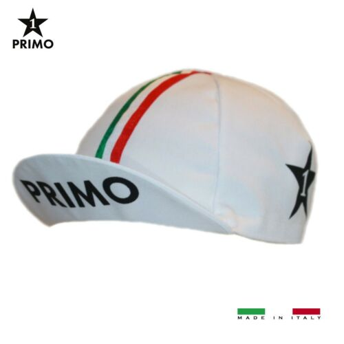 PRIMO CAPPELLINO CLASSICO RETRO ITALIA RIBBON WHITE BIKE SUMMER CYCLING CAP