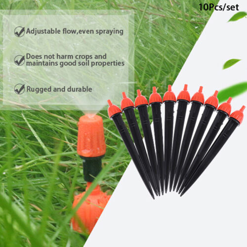 360° Adjustable Water Flow Irrigation Drippers Stake Emitter Drip System DrippZH