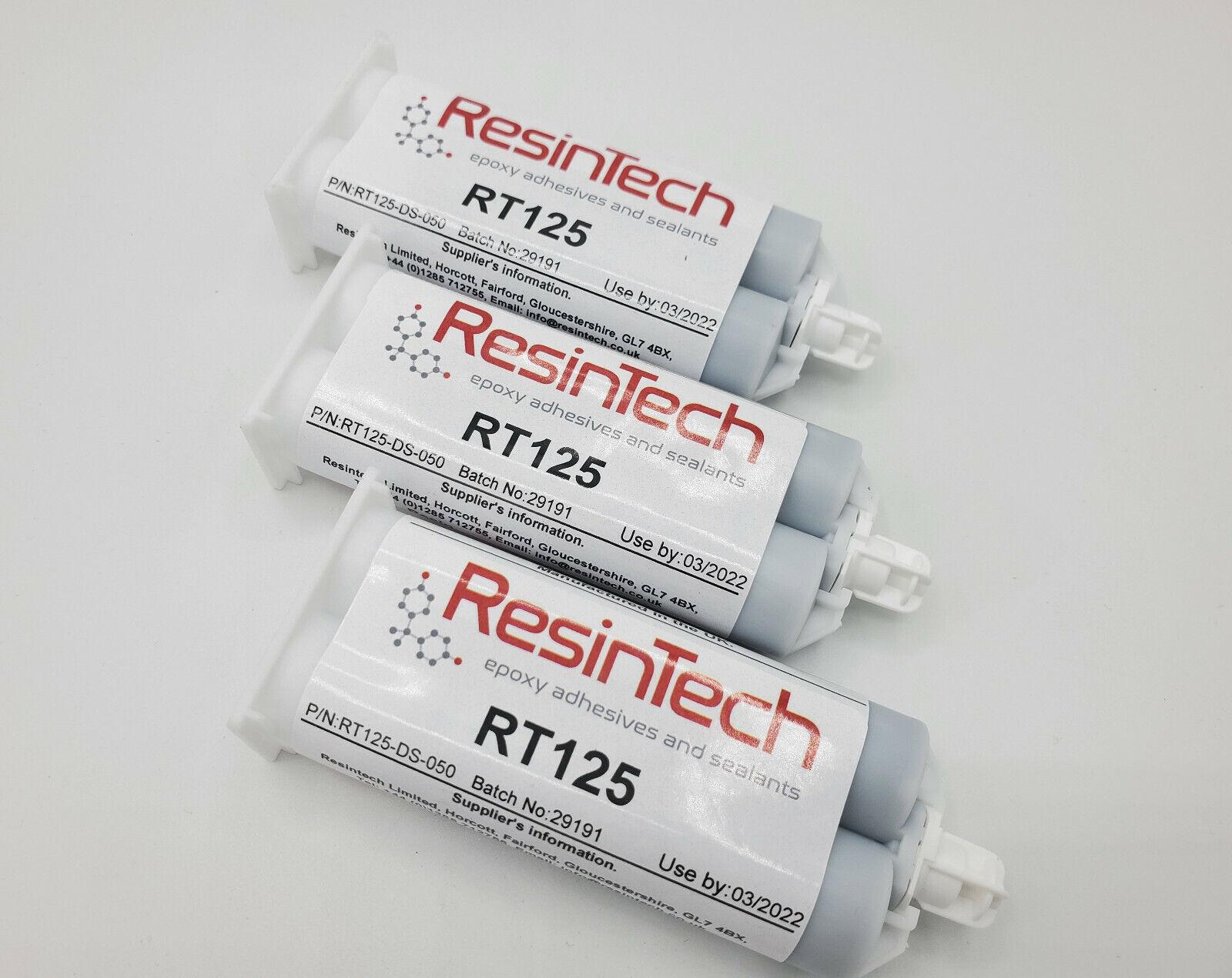 3 pack ResinTech RT125-DS-050 Flexible 2 Part Epoxy 50ML Black Motorsport Nascar