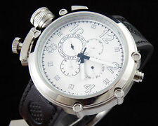 50mm Parnis white dial Big Face leather strap automatic movement men's watch 256