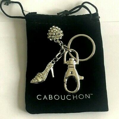 Entusiasta Shoe Keyring High Heel Keychain Crystal Gift For Ladies Present With Bag Uk Negozio Online