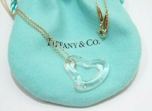 Tiffany-amp-Co-18K-Yellow-Gold-Elsa-Peretti-Large-Open-Heart-Crystal-Necklace