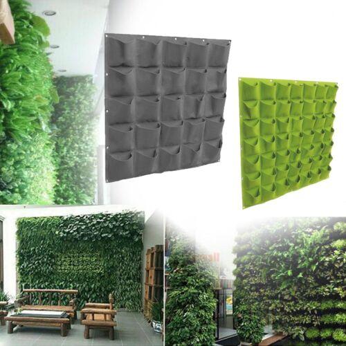 49//36 Pockets Planting Bags Vertical Greening Wall Hanging Planter Garden Decor