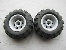 ☀️NEW 56x26 Technic Wheels LOT OF 2 Tires with Gray Rims