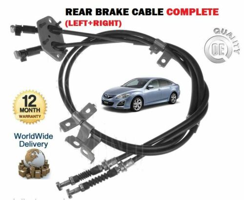 FOR MAZDA 6 ALL  2008-2013 NEW REAR LEFT /& RIGHT SIDE COMPLETE HAND BRAKE CABLE