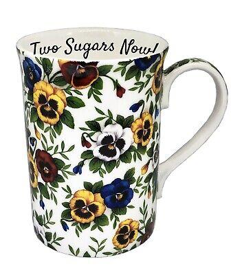 BN Boxed Personalised Vintage Style Sweetpea Chintz Design Fine Bone China Mug,
