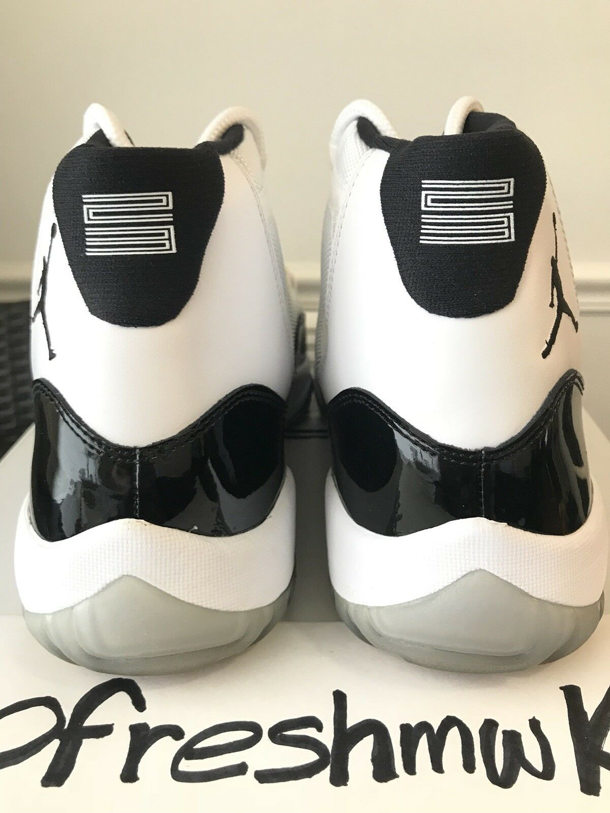 Nike Air Jordan XI 11 Retro WHITE WHITE WHITE BLACK CONCORD PATENT LEATHER 378037-107 13 cf0c92