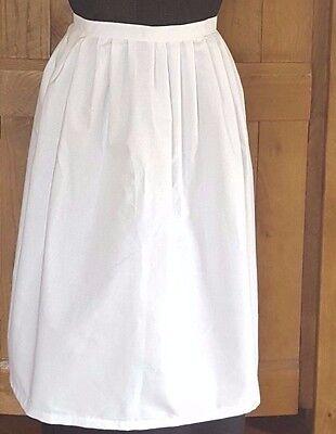 Umorismo Vittoriano / Edwardian Bianco Camerieri Grembiule Fancy Dress.childs-mostra Il Titolo Originale Lustro