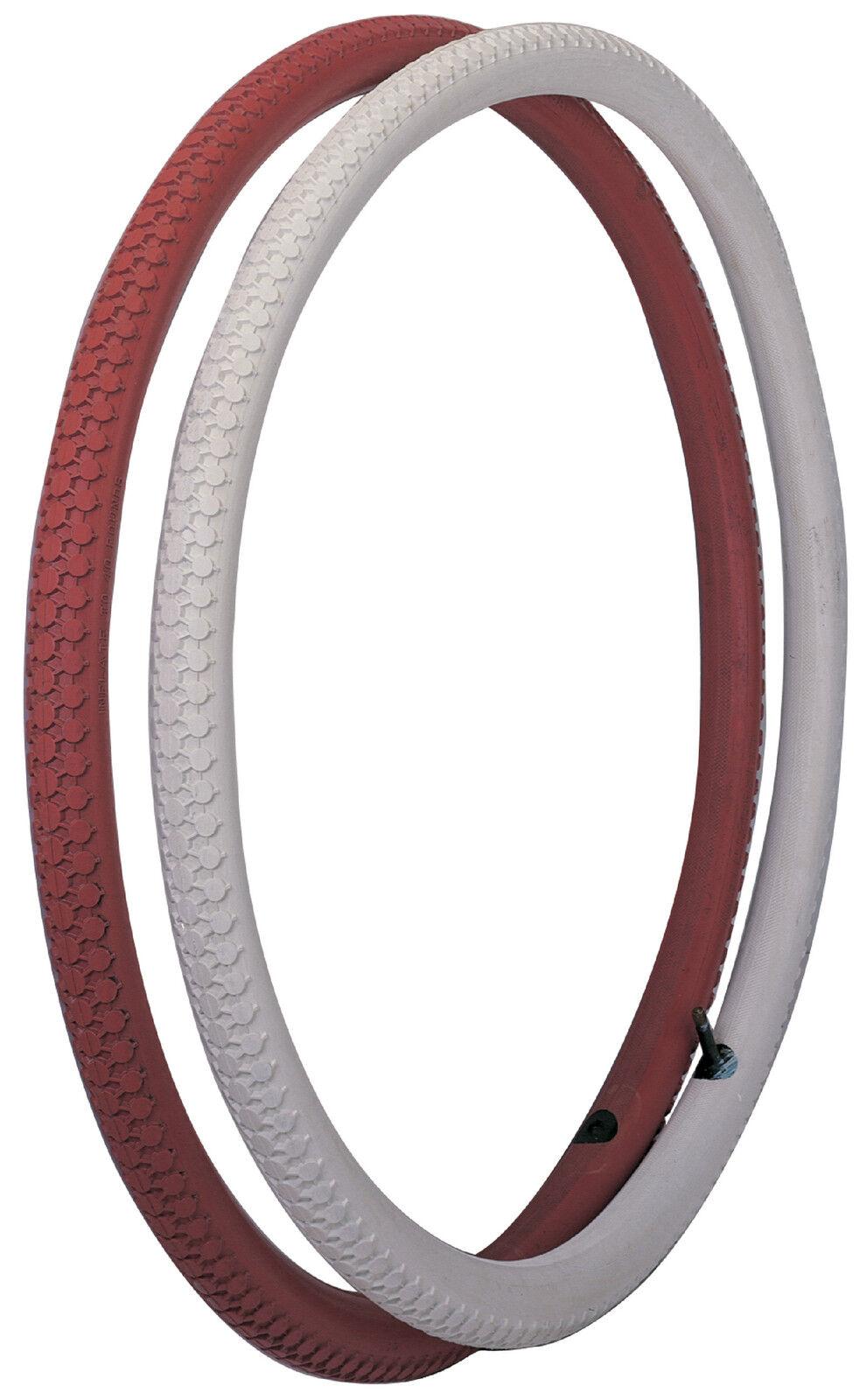 Universal Vintage Bicycle Tire 28x1-1 2 Cinnamon (red)