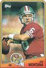 1988 Topps Joe Montana #38 Football Card