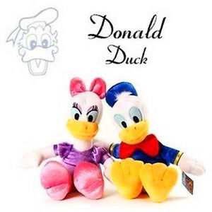 2PCS-35CM-DISNEY-DONALD-amp-DAISY-DUCK-PLUSH-DOLL-SOFT-BEAR-KIDS-CHILD-STUFFED-TOY