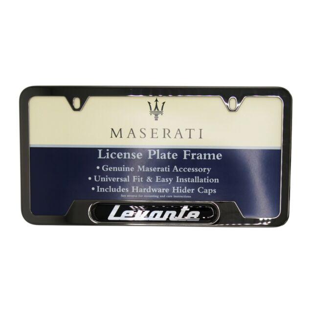 Maserati Levante Black Pearl Plate Frame