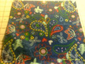 52x22 Standard Daycare cot sheet 1 Butterfly/bird  print