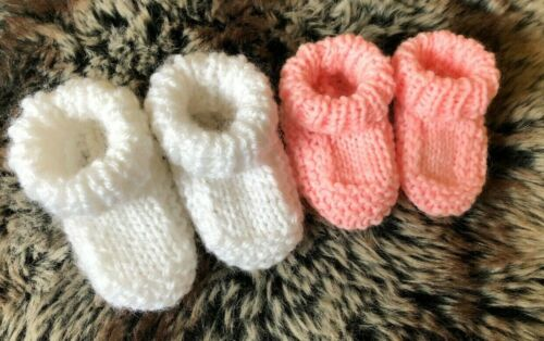 Newborn Baby Booties Shoe Knitting Pattern 3 Styles Includes Premature Sizes