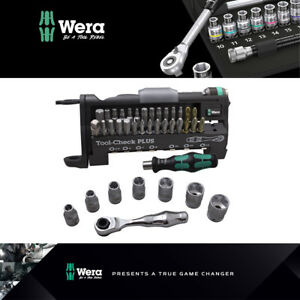 Sockets and Holder Wera Tool-Check PLUS Compact Set with Ratchet Bits 39 pcs