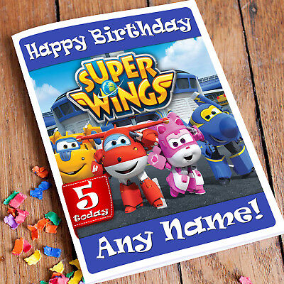 Personalised Birthday Card Super Wings Childrens Boy Son Nephew Grandson
