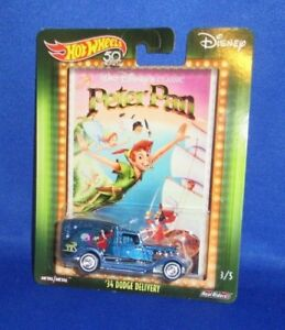 DISNEY-CLASSIC-HOT-WHEELS-50TH-PETER-PAN-DODGE-DELIVERY-COLLECTOR-TRUCK-CAR-S
