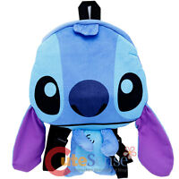 Disney Lilo And Stitch Flat Plush Doll Backpack 15in Stitch Costume Bag