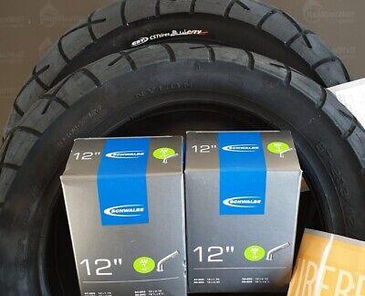 2 Reifen CST 12 1//2 x 2 1//4 schwarz C-1456 2 Schläuche Schwalbe AV
