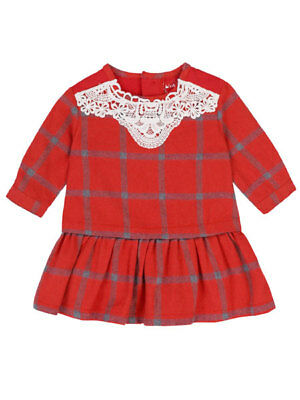Deux Par Deux NWT Red Knit Baby and Toddler Girls Dress Sizes 12M 2 Winter