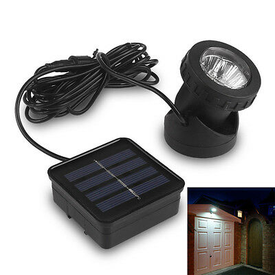 Waterproof Solar Powered 6 LED Outdoor Garden Landscape Yard Lawn Lamp Spotlight