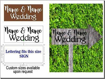 Segno Di Nozze-matrimonio Personalizzato Adesivo-in Questo Modo Sign-prepara Il Tuo Segno-mostra Il Titolo Originale