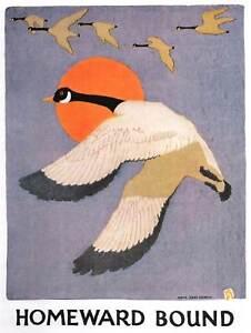 PAINTING-GEESE-SUN-BIRD-HANSON-HOMEWARD-BOUND-30X40-CM-ART-PRINT-POSTER-BB8478
