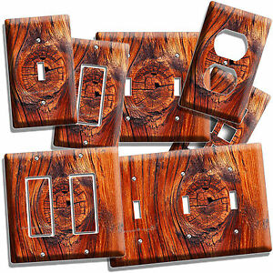 Details About Rusted Old Wood Eye Rustic Light Switch Wall Plate Outlet Kitchen Log Cabin Art