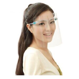 Paint Oil-Splash Proof Mask Transparent Face Protective Shield Mask Case Sunglas