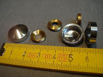 réf LC16C lot de 2 cache vis conique diamètre 16 mm en laiton chromé