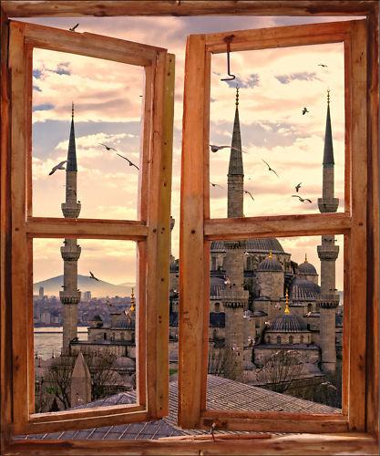 Aufkleber Schein Auge Fenster Deko Moschee ref 718