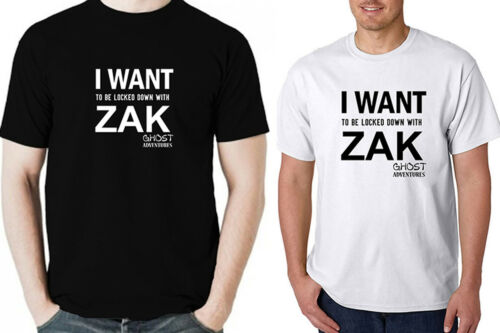 GHOST ADVENTURE ZAK men black white t-shirt 100/% cotton short sleeve graphic