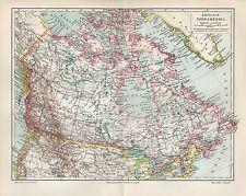 Landkarte map 1906: BRITISCH-NORD-AMERIKA. CANADA Atlantik USA Vancouver
