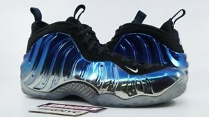 new styles ac6cf 43fcd Details about NIKE AIR FOAMPOSITE ONE USED SIZE 13 BLUE MIRROR SILVER ROYAL  BLACK 575420 008