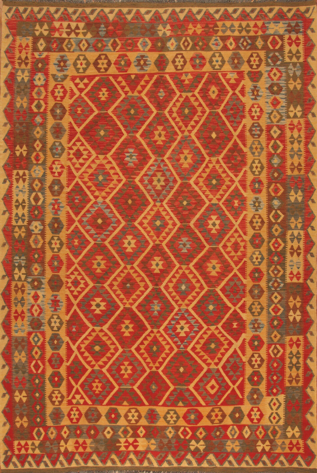 TAPPETO Orientale tessute a mano Kilim Afghanistan n. 82616 (305 x 206) cm Nuovo