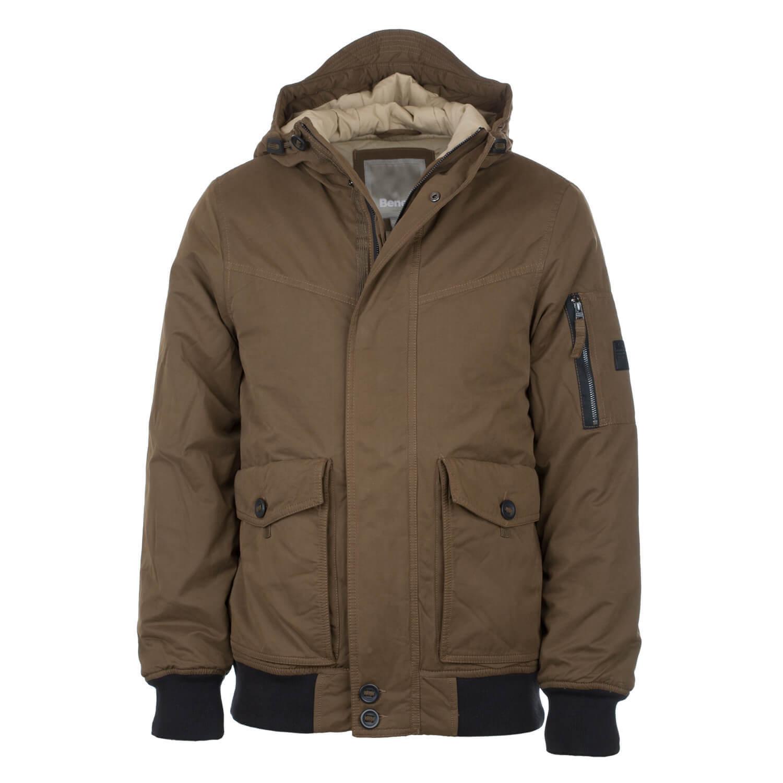 Bench Pallor Bomber Jacket Olive - Veste d hiver à capuche pour homme