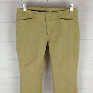 Old-Navy-Pixie-womens-size-4-stretch-solid-beige-flat-front-tapered-chinos-EUC