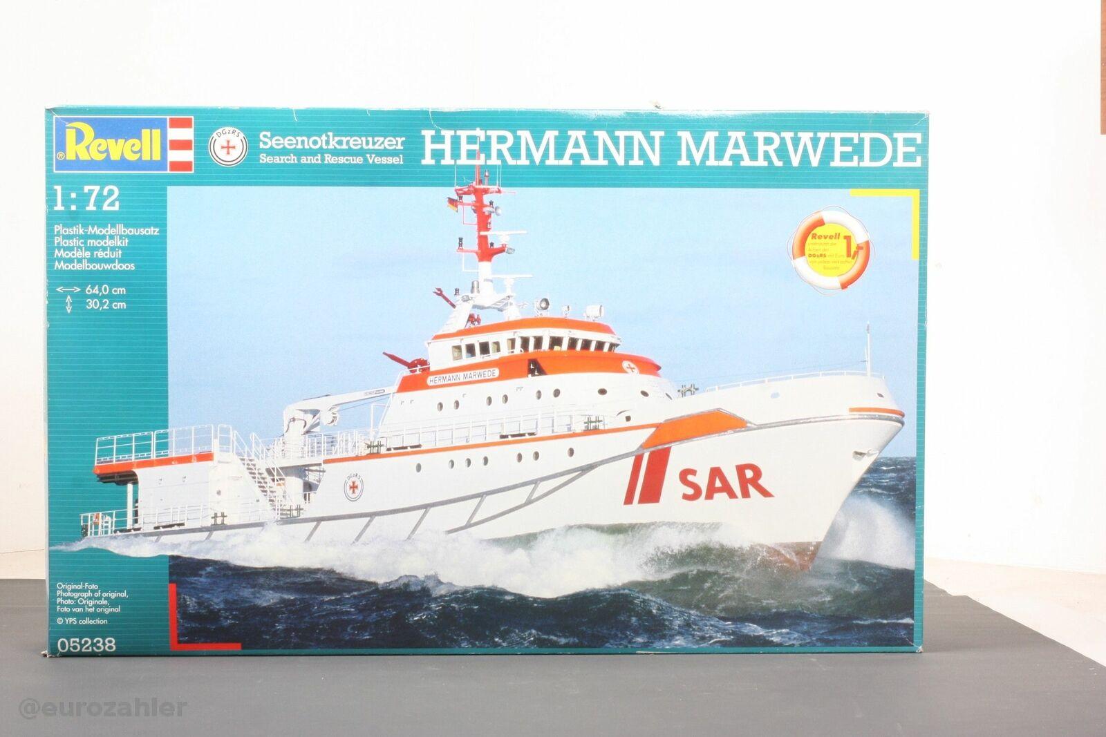 Revell 05238 Seenotkreuzer HERMANN MARWEDE 1 72 OVP Neu    | Smart  aa2e39