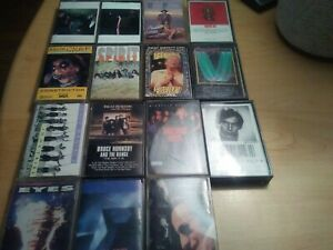 Classic-rock-cassette-tapes-lot-of-15-Alice-cooper-spirit-toto