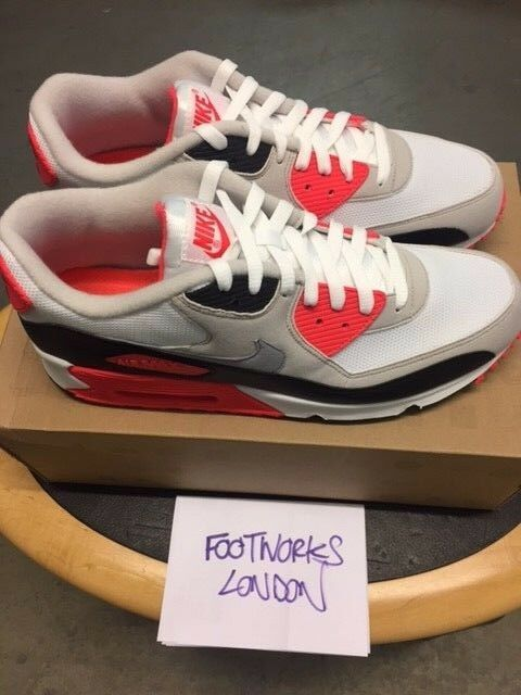 nike air max 90 Blanc /cement/infared  usa brand new uk 12 usa  13 51f4ad